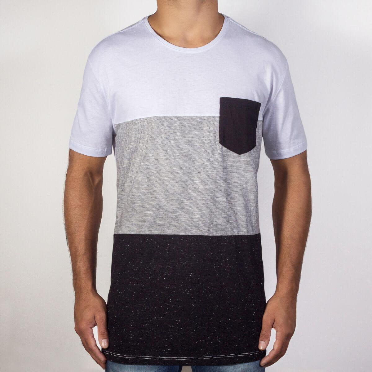 Branco/Cinza Mescla/Preto