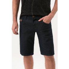 Bermuda Jeans Azul com Amassadinhos