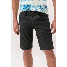 Bermuda Jeans Black com Amassadinhos