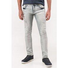 Calça Jeans Claro com Puídos