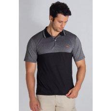 Camisa Polo com Recorte em Piquet